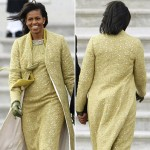 Michelle Obama Isabel Toledo Yellow Suit Inauguration Day