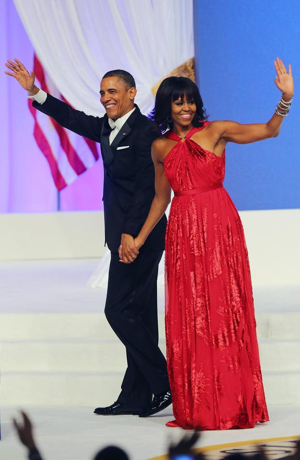 Michelle Obama Jason Wu red dress Inauguration Ball