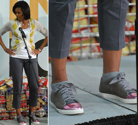Michelle Obama Lanvin Sneakers