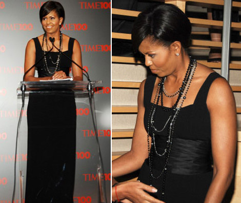 Michelle Obama Michael Kors Black dress