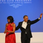 Michelle Obama red dress Inauguration Ball