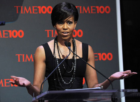 Michelle Obama Time100 Black dress