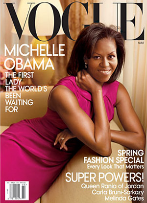 Michelle Obama Vogue US March09 Leibovitz cover