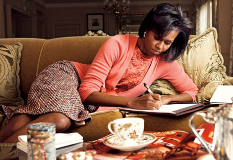 Michelle Obama Vogue US March09 Leibovitz 2