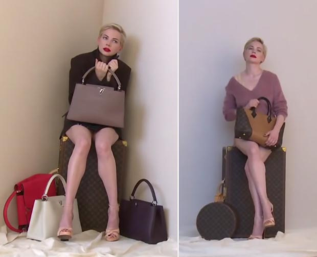 Michelle Williams Louis Vuitton handbags ad campaign