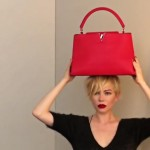 Michelle Williams Vuitton bag ad campaign