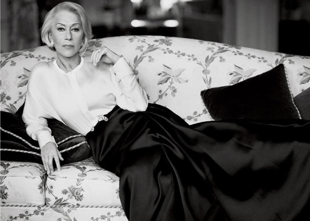 Mikael Jansson photographed Helen Mirren for Vogue US