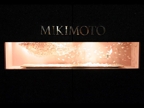 Mikimoto Japan Jewelry boutique window