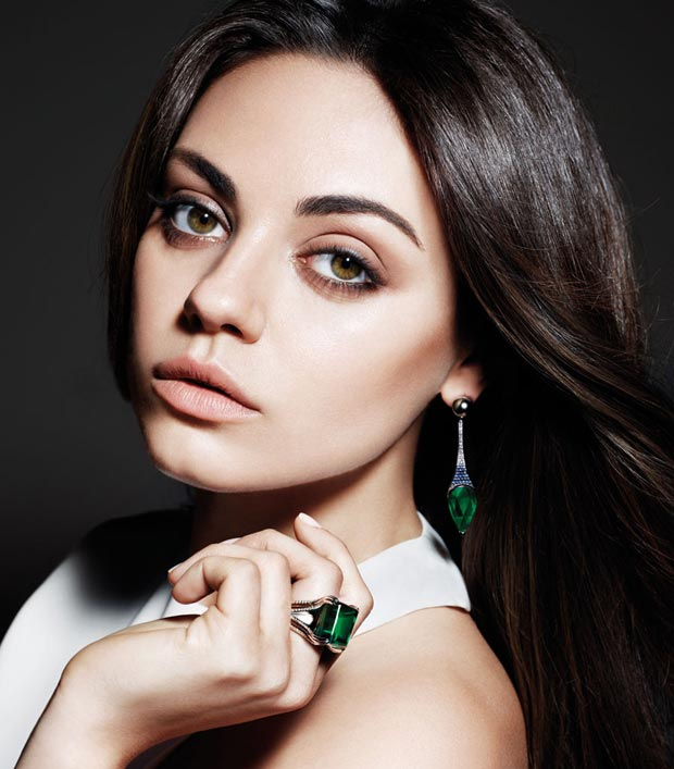 Mila Kunis campaign for Gemfields jewelry