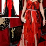Mila Kunis red Alexander McQueen dress 2011 SAG Awards