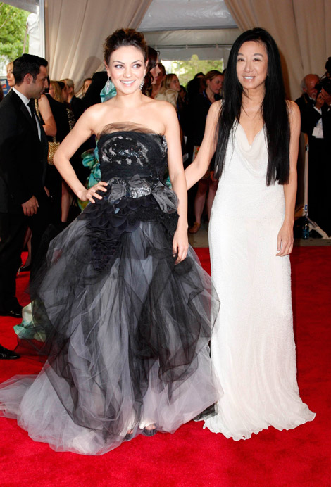 Mila Kunis Vera Wang dress Met Gala 2010