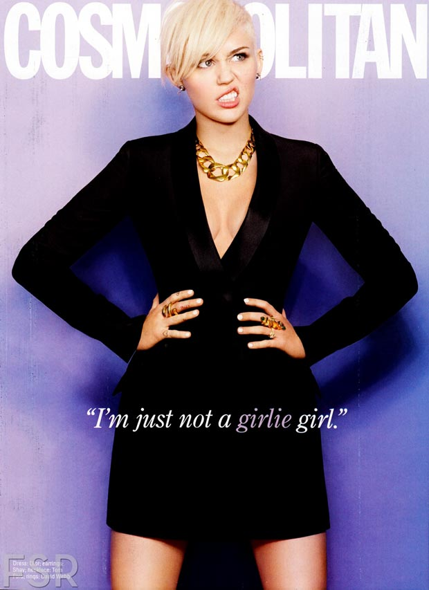 Miley Cyrus edgy Cosmopolitan March 2013