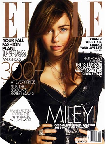 Miley Cyrus Does Elle US August 2009