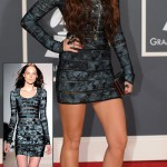 Miley Cyrus Herve Leger dress Grammys 2010