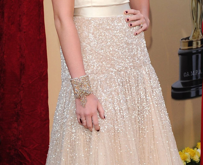Miley Cyrus Jeny Packham dress 2010 Oscars 2