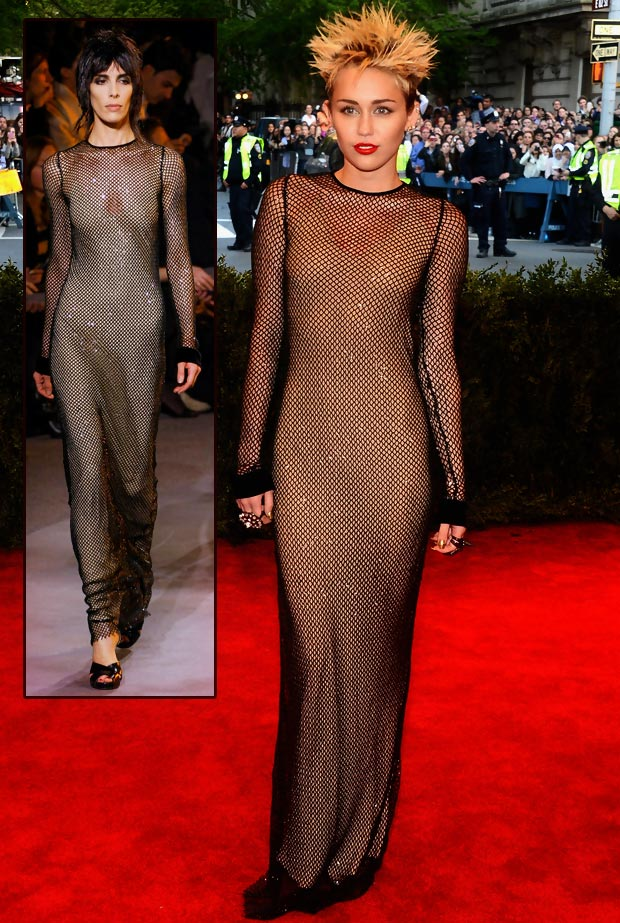 Miley Cyrus Marc Jacobs black dress Met Gala 2013