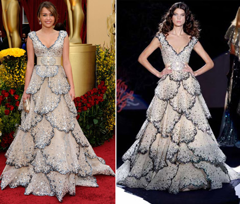 Miley Cyrus Zuhair Murad dress Oscars 2009