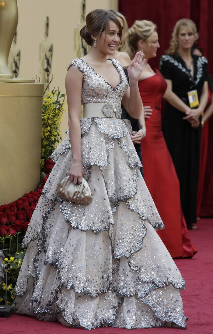 Miley Cyrus Zuhair Murad dress Oscars 2009 3