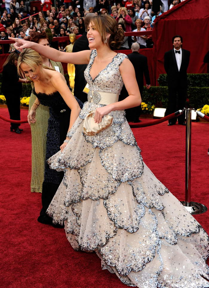 Miley Cyrus Zuhair Murad dress Oscars 2009 5
