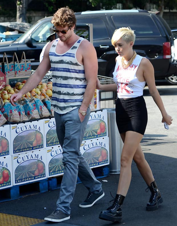 Miley Liam together September 2012