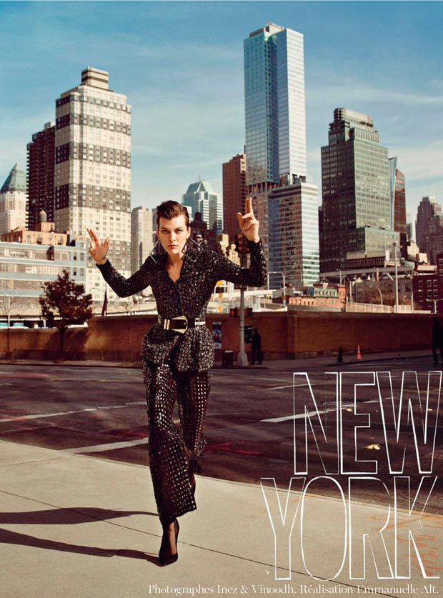 Milla Jovovich Vogue Paris February 2013