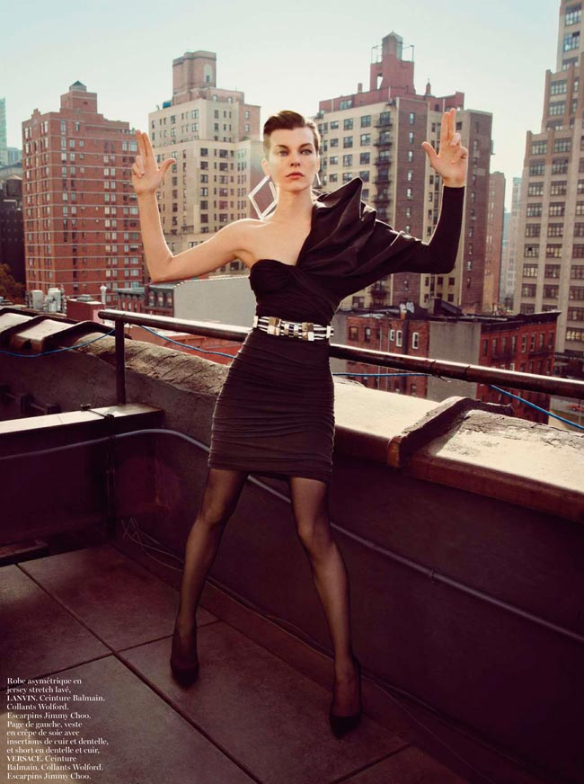 Milla Jovovich Vogue Paris pictorial Lanvin