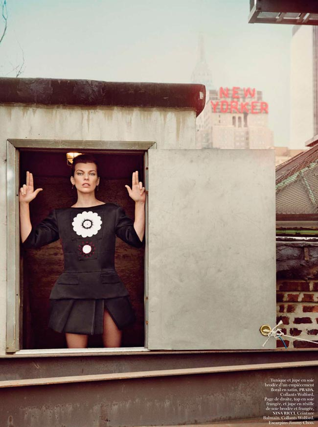 Milla Jovovich Vogue Paris pictorial Prada
