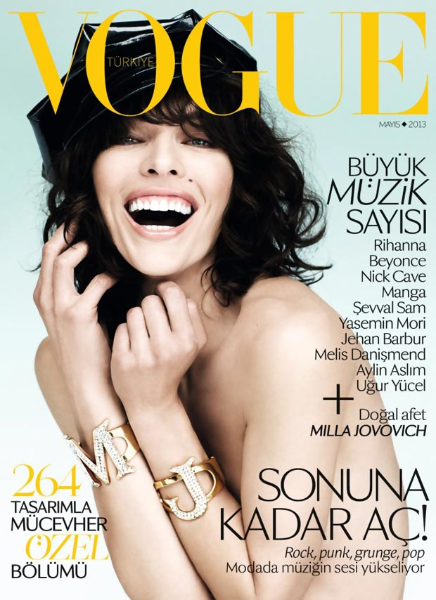 Milla Jovovich Vogue Turkey May 2013 cover