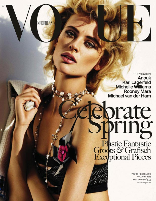 Milou van Groesen covers Vogue Netherlands April 2013