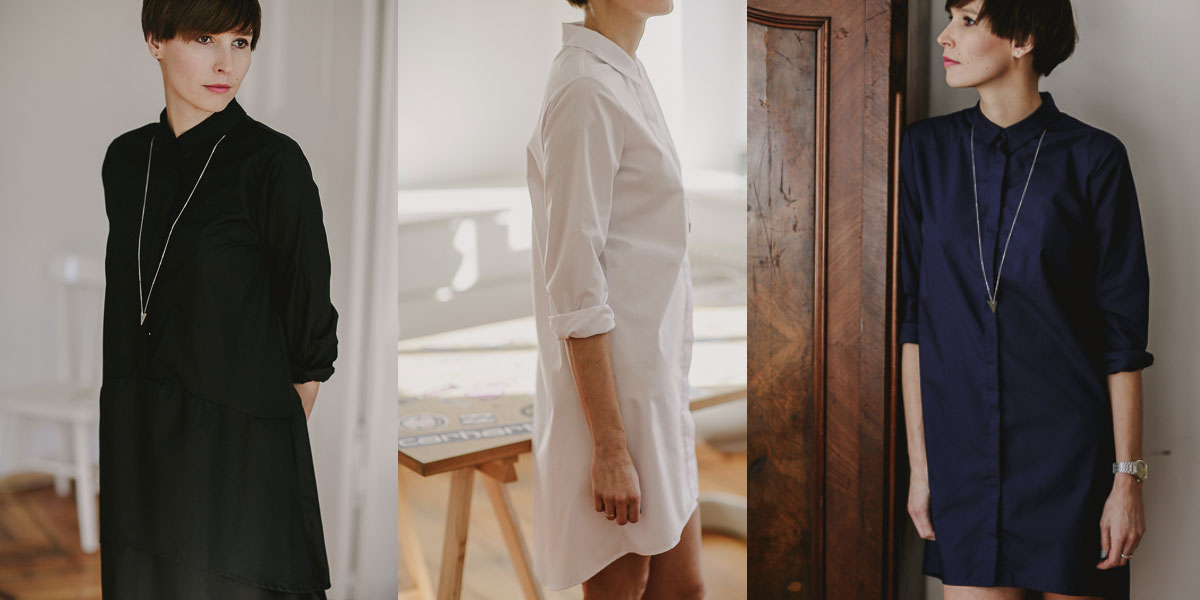 minimalist wardrobe shirt dress pulpa design