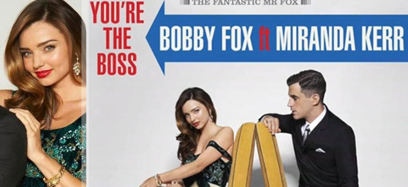 Miranda Kerr singing duet with Bobby Fox Elvis cover