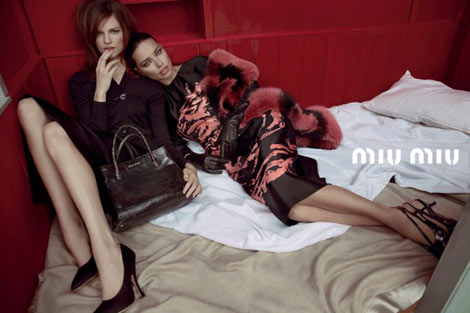 Miu Miu girls in bed Spring 2013
