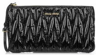 miu miu patent fabric clutch
