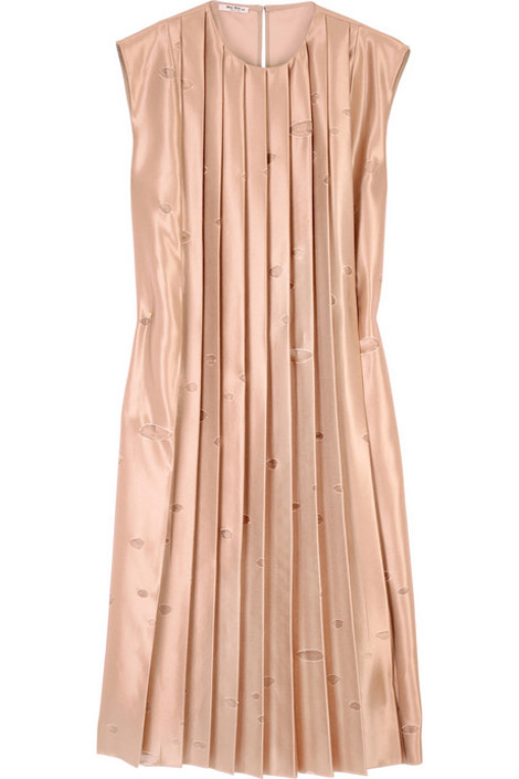 Miu Miu silk pleated dress