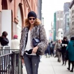 model street style fur coat