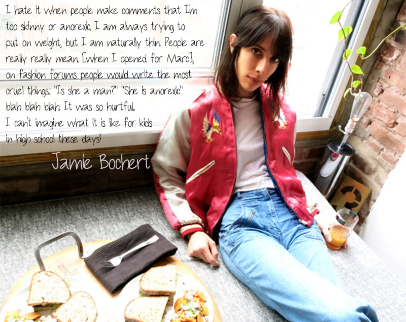 models about eating and anorexia Jamie Bochert