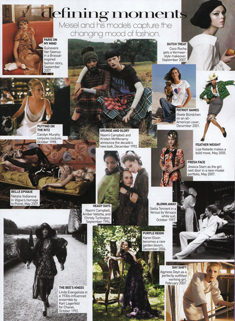 Models Meisel Godfather Vogue May 09 clippings