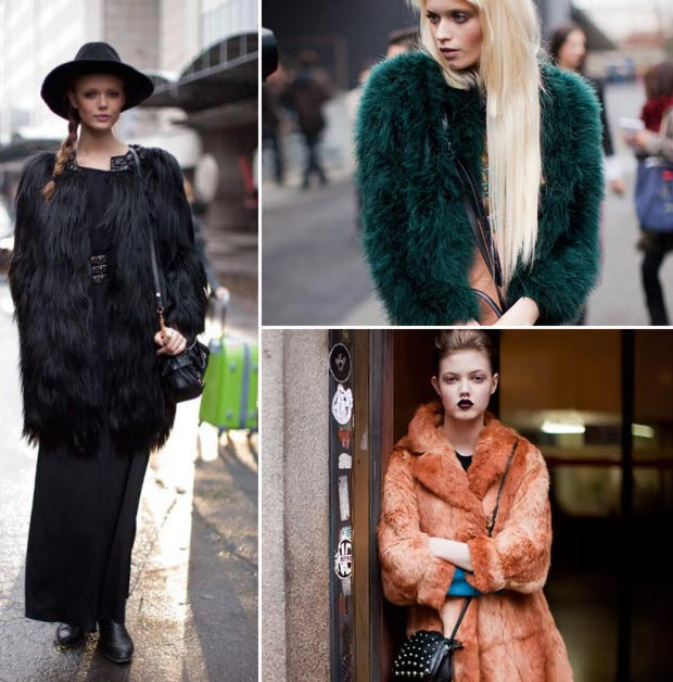 models off duty winter looks fur coats