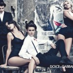 Models posing suggestively Dolce Gabbana ad campaign fall 2011