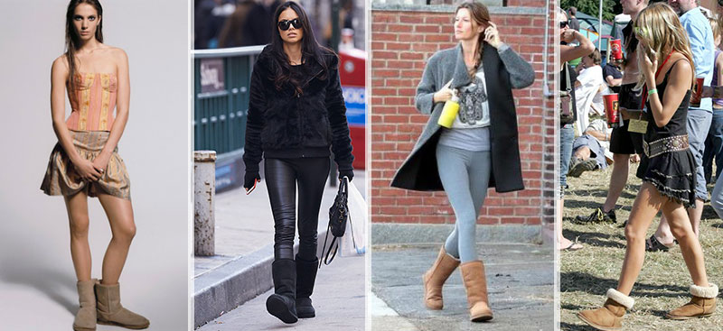 models wearing UGG boots making comeback