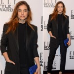 models with suits Barbara Palvin Elle Style Awards