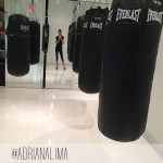 models workout Adriana Lima kickboxing