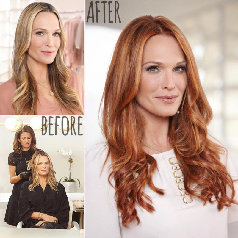 Molly Sims new red hair before after