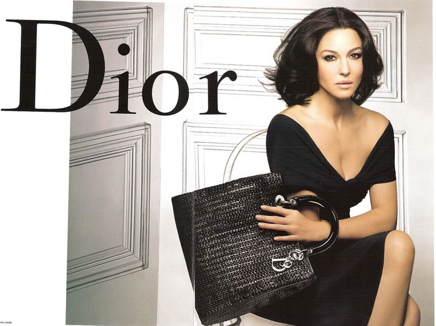 Monica Bellucci Dior Handbags Ad