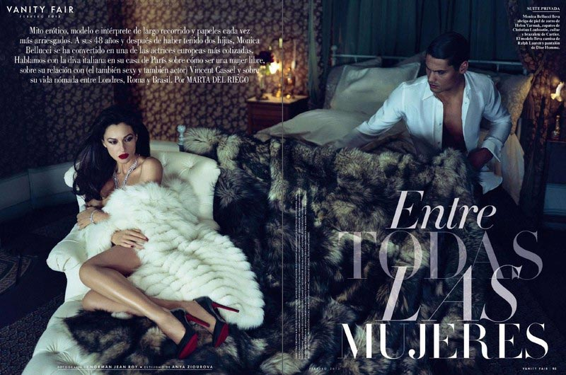 Monica Bellucci Vanity Fair Spain furry pictorial
