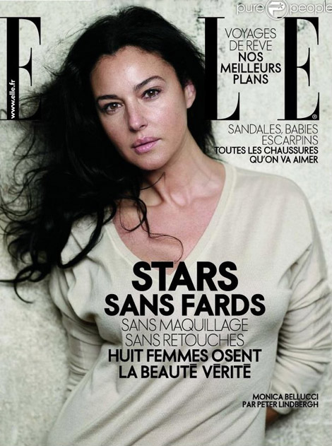 monica bellucci without makeup elle cover