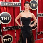 Morena Baccarin Basil and Soda black dress 2013 SAG Awards