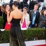 Morena Baccarin black dress 2013 SAG Awards