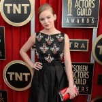 Morgan Saylor black dress 2013 SAG Awards Red Carpet