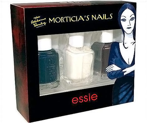 Morticia Addams Nails Polish Essie